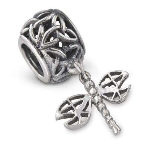 Outlander Inspired Dragonfly Silver Bead Charm